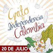 Traditional Llorente's Flower Vase Broken for Colombian Independence Day