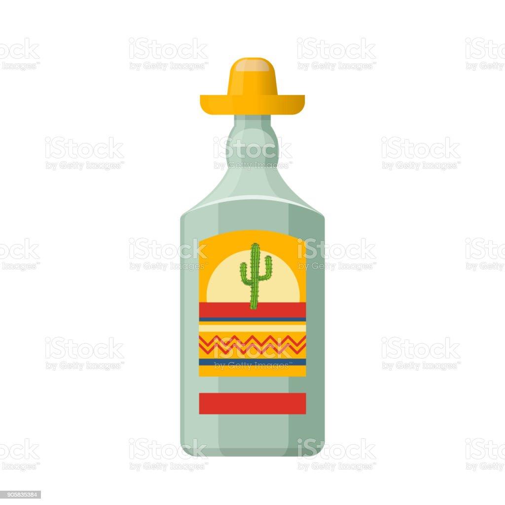 Traditionelle Mexikanische Alkohol Trinken Tequila In Transparente ...