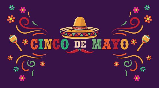 Traditional Mexican celebration federal holiday. Cinco de Mayo