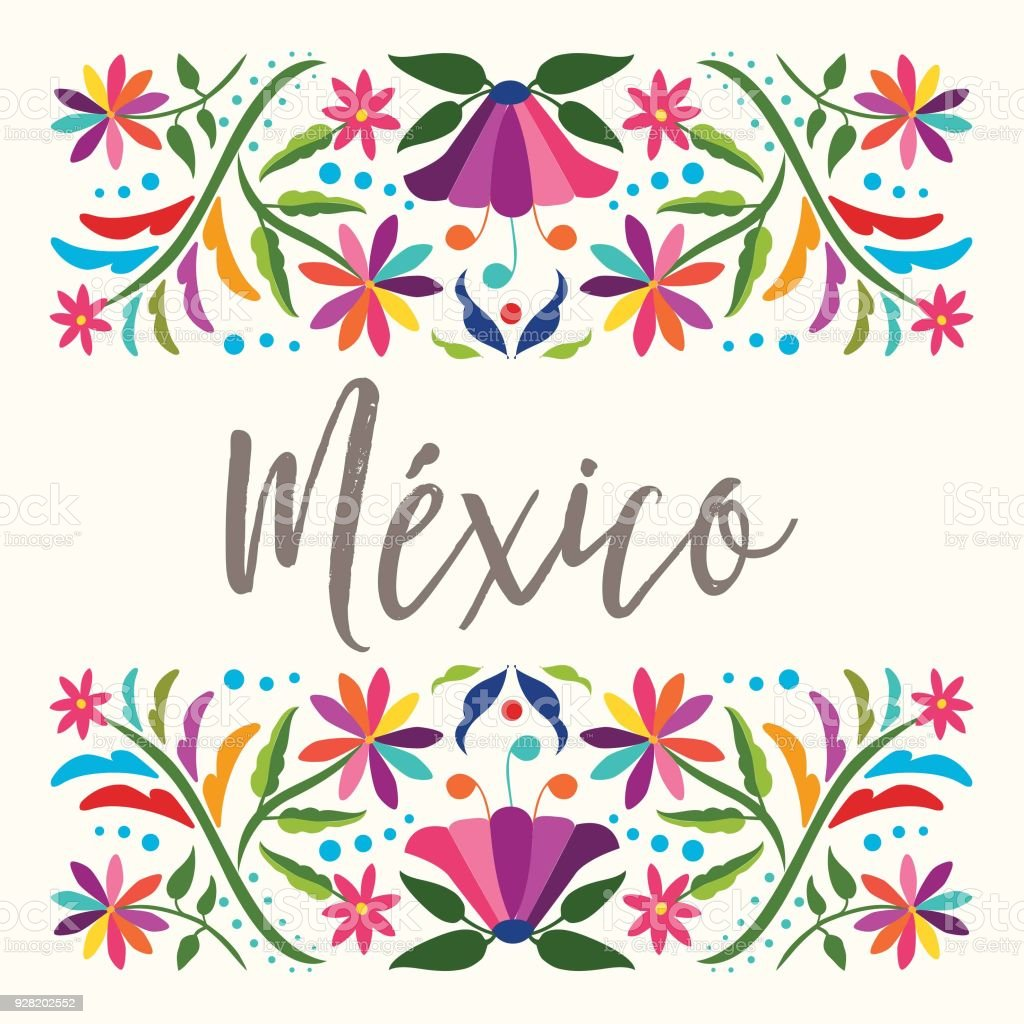 Traditional Mexican Composition - Copy Space vector art illustration