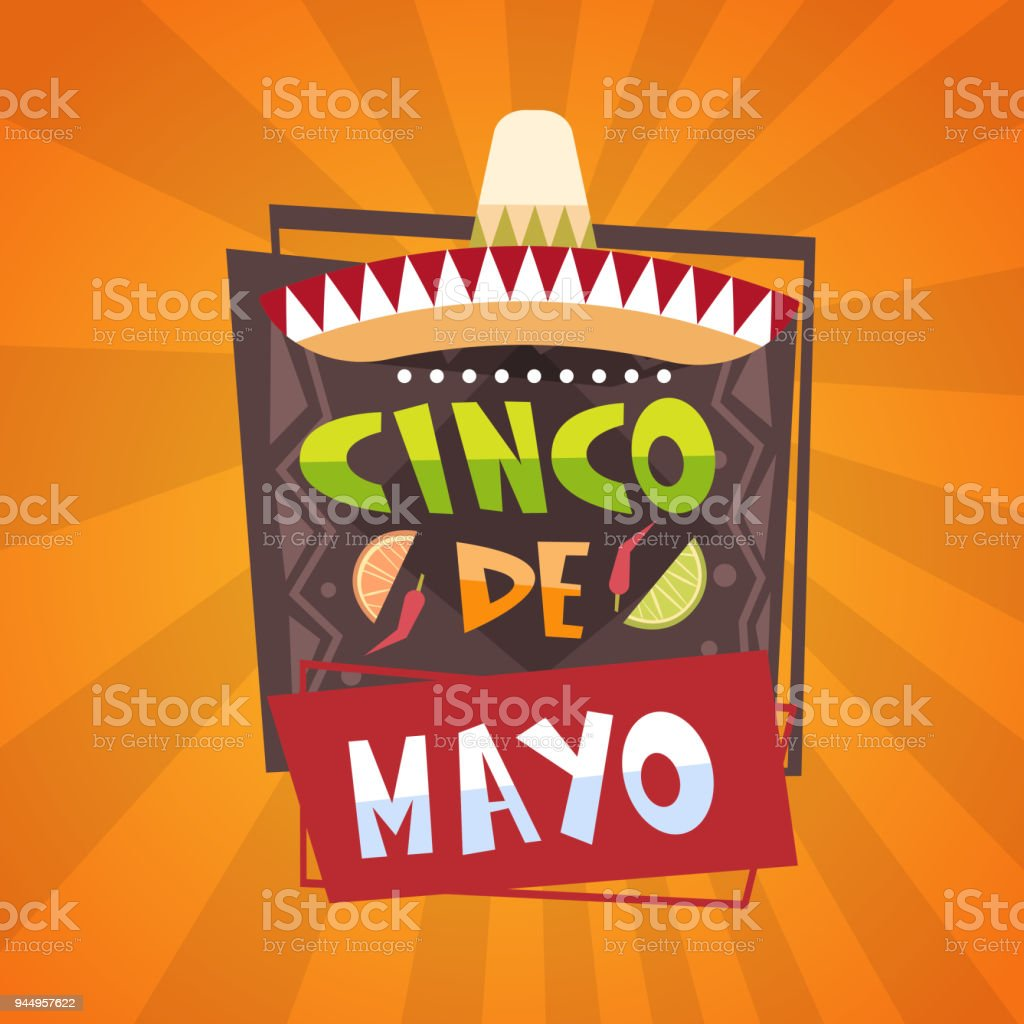 Traditional mexican festival poster cinco de mayo holiday greeting traditional mexican festival poster cinco de mayo holiday greeting card design royalty free traditional mexican m4hsunfo Image collections