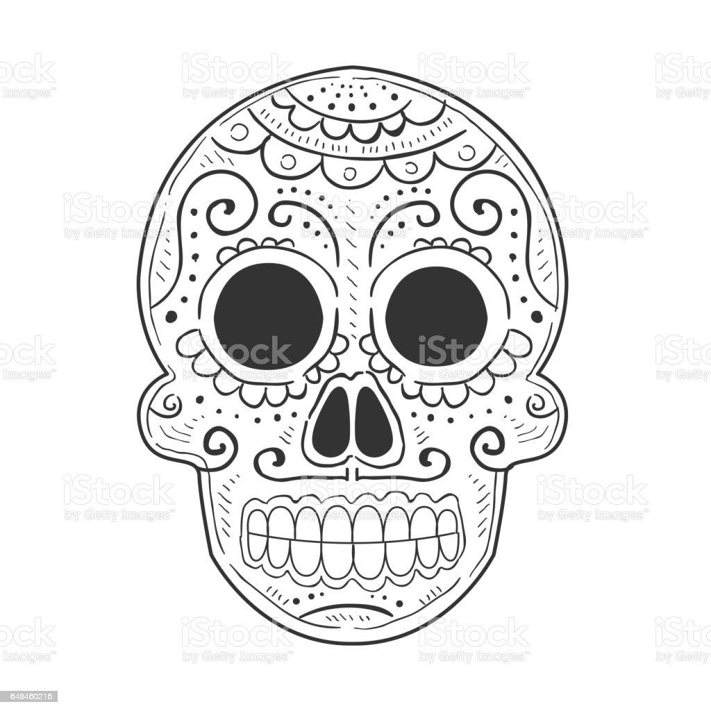 Bocetos De Tatuajes Tradicionales ilustración de tradicional mexicana pintado scull símbolo de