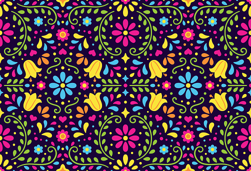 Traditional Mexican seamless pattern