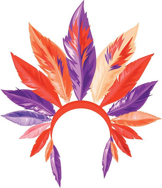 traditionellen indianischen kopfschmuck - kopfschmuck stock-grafiken, -clipart, -cartoons und -symbole