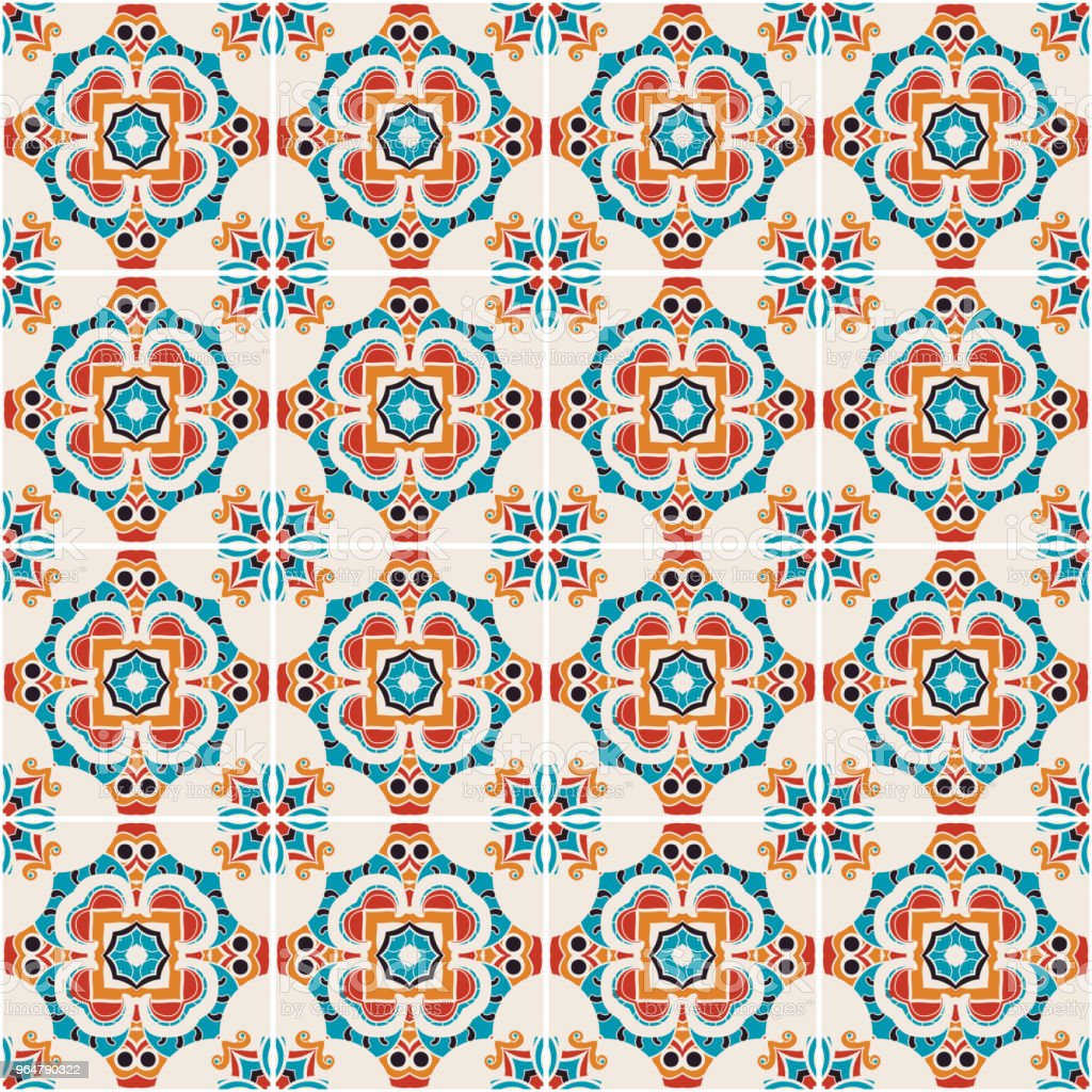 Traditional ornate portuguese decorative tiles azulejos. royalty-free traditional ornate portuguese decorative tiles azulejos stock vector art & more images of abstract
