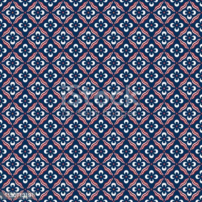 Traditional Ottoman Cintemani Seamless Pattern. Cintemani was a symbol of power and strength, the dots being compared to the leopard s spots and the curving lines to a tiger 'S' markings.