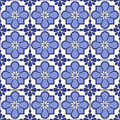 Portuguese tile seamless pattern. EPS10 vector illustration, global colors, easy to modify.