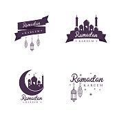 Traditional Ramadan Concept Icons