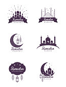 Traditional Ramadan Concept Icons