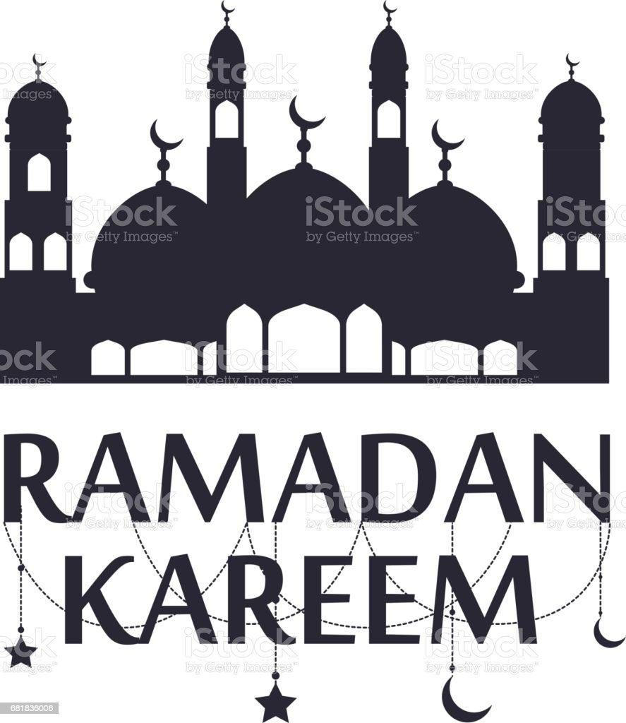 Traditional ramadan kareem art month celebration greeting card festival design vector ベクターアートイラスト