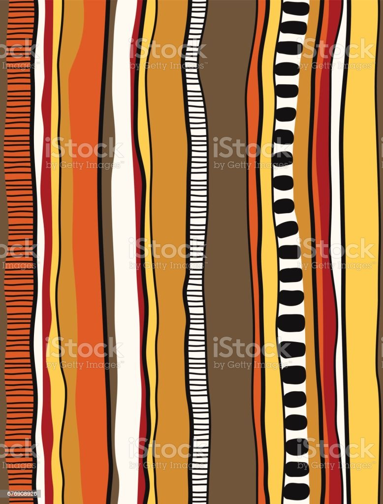 Aboriginal stripe pattern vector art illustration