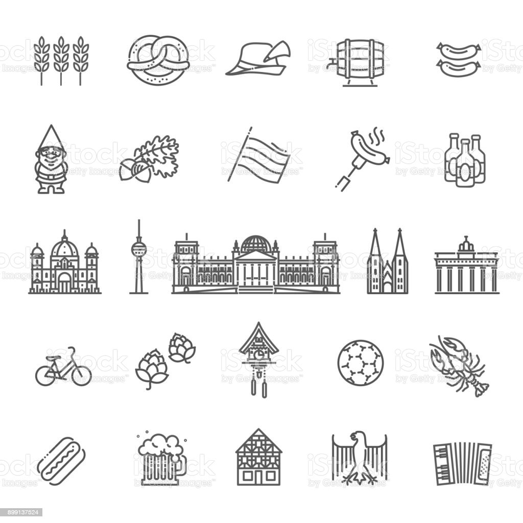 Download Traditional Symbols Of Italy Stock Vector Illustration Of