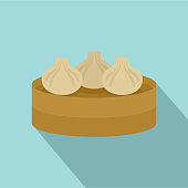 Traditional taiwan cake icon. Flat illustration of traditional taiwan cake vector icon for web design