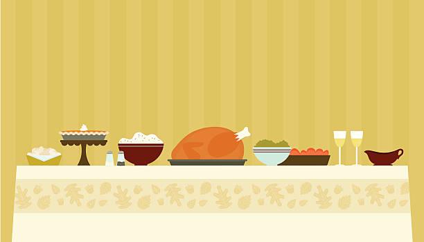 thanksgiving-abendessen - warmes abendessen stock-grafiken, -clipart, -cartoons und -symbole