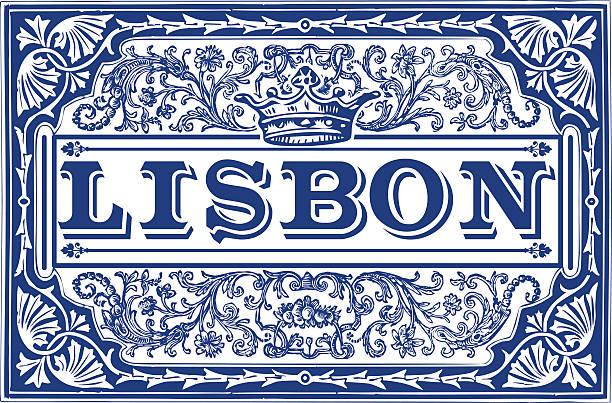 tradycyjnych płytek ceramicznych azulejos lizbona, portugalia - lizbona stock illustrations