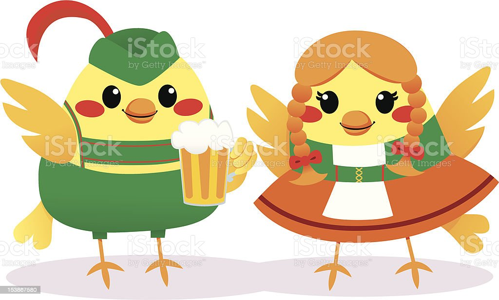 Traditional Tyrolean Birds royalty-free stock vector art