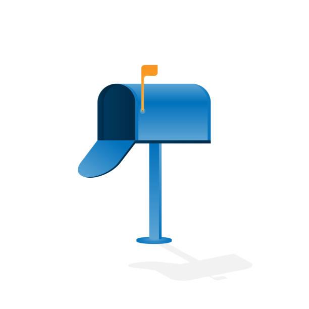Traditionelle Usa Postfach isoliert auf weißem Hintergrund – Vektorgrafik