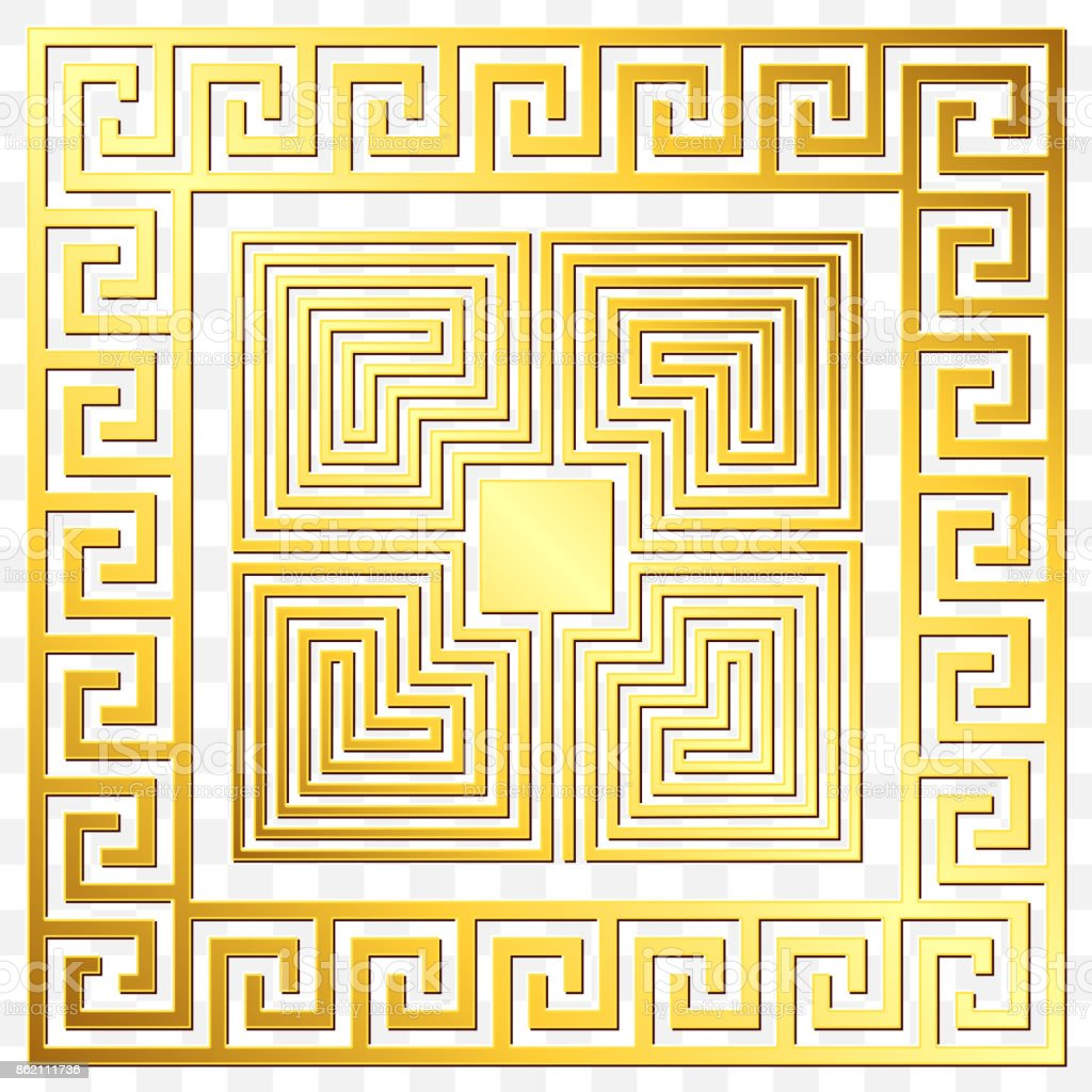 22cd96b9bdb1 Traditional Vintage Gold Greek Ornament Meander stock vector art ...