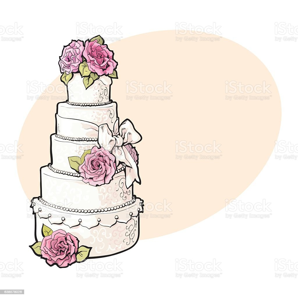 clipart pictures of wedding cakes wedding cake clip vector images amp illustrations istock 12884