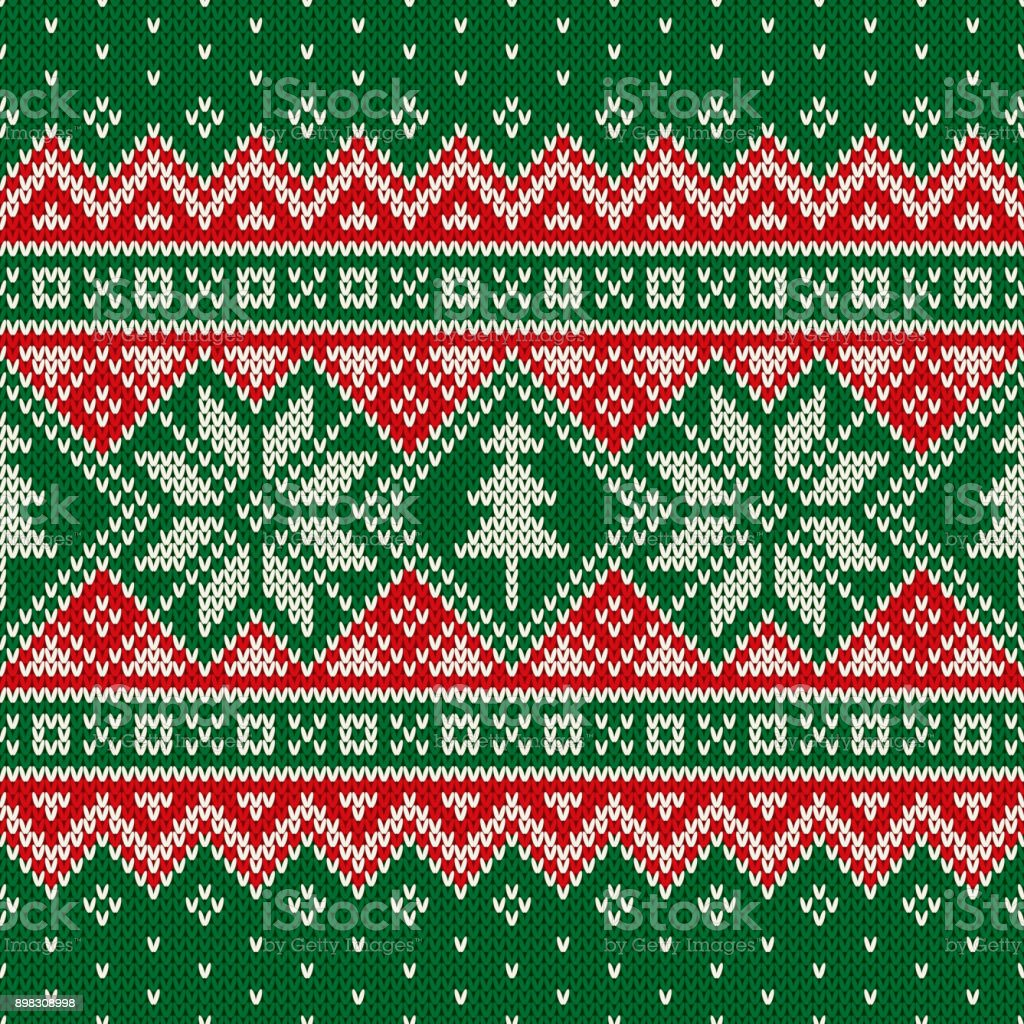 Traditional Winter Holiday Seamless Knit Pattern With ...