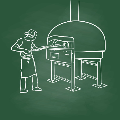 Traditional Wood Oven Pizza Chalkboard