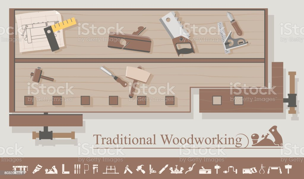 Traditional Woodworking Stock Vector Art More Images Of Carpentry