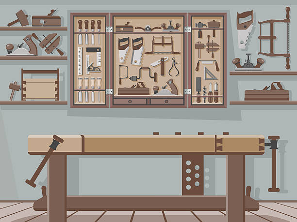 Best Work Bench Illustrations, Royalty-Free Vector Graphics