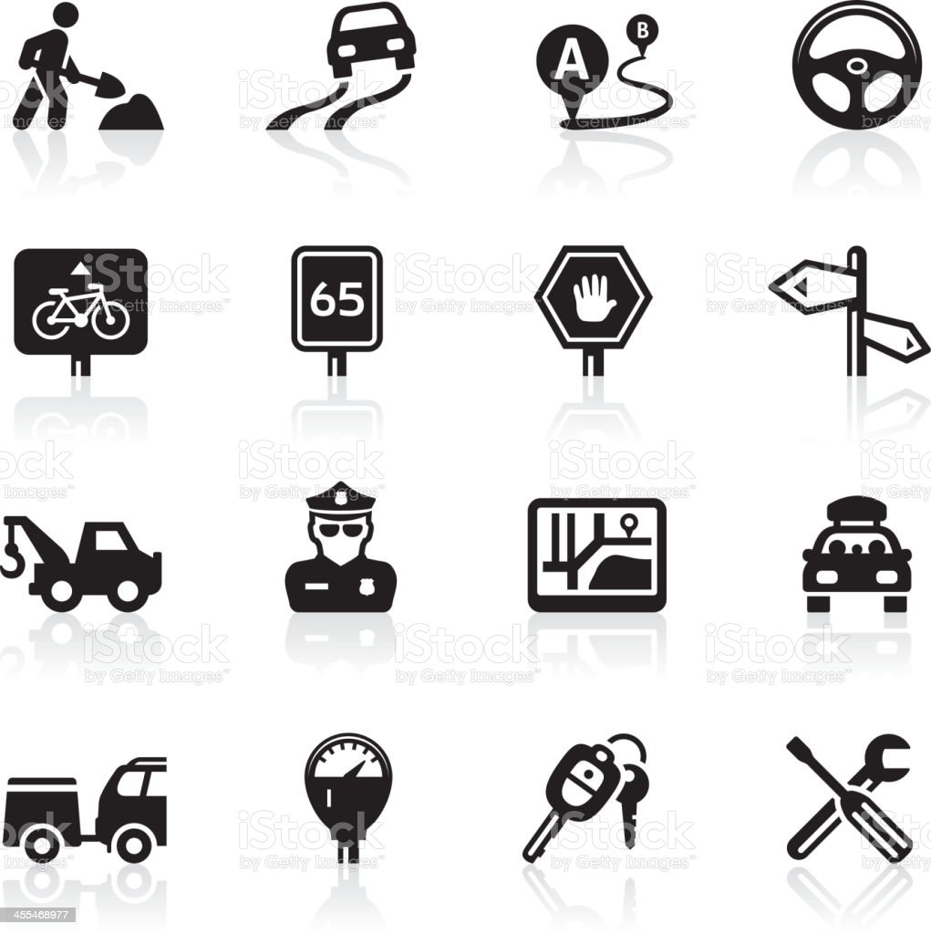 Traffic and Road trip icons royalty-free traffic and road trip icons stock vector art & more images of bicycle