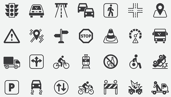 Traffic Concept Icons