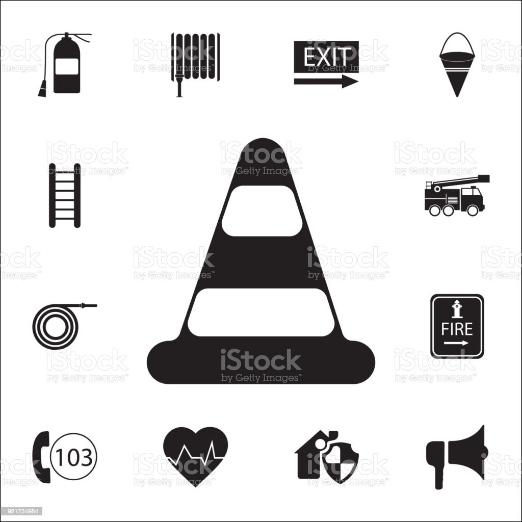 Traffic cone icon. Detailed set of fire guard icons. Premium quality graphic design sign. One of the collection icons for websites, web design, mobile app vector art illustration