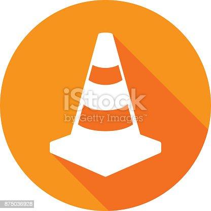 istock Traffic Cone Icon Silhouette 1 875036928