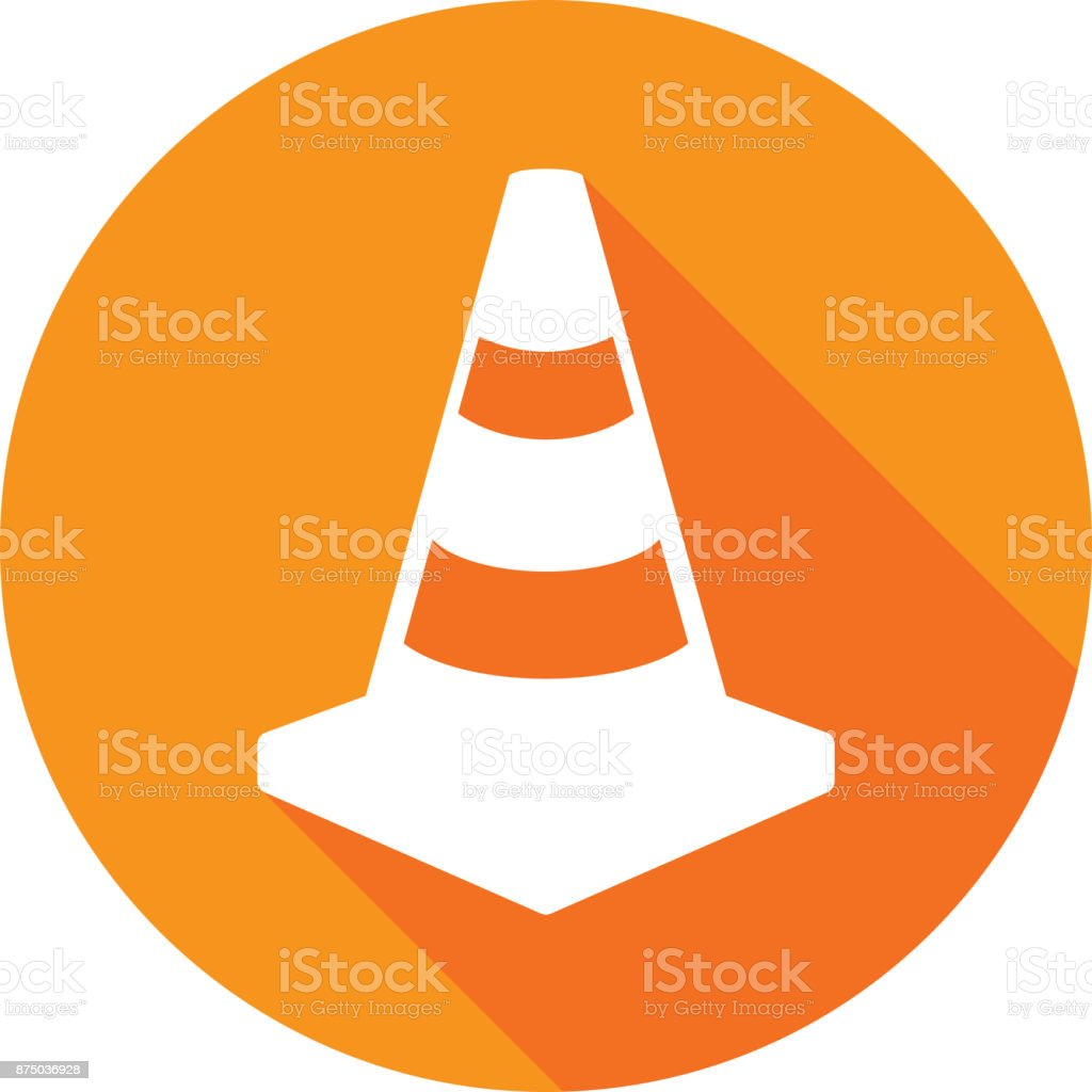 Traffic Cone Icon Silhouette 1 vector art illustration