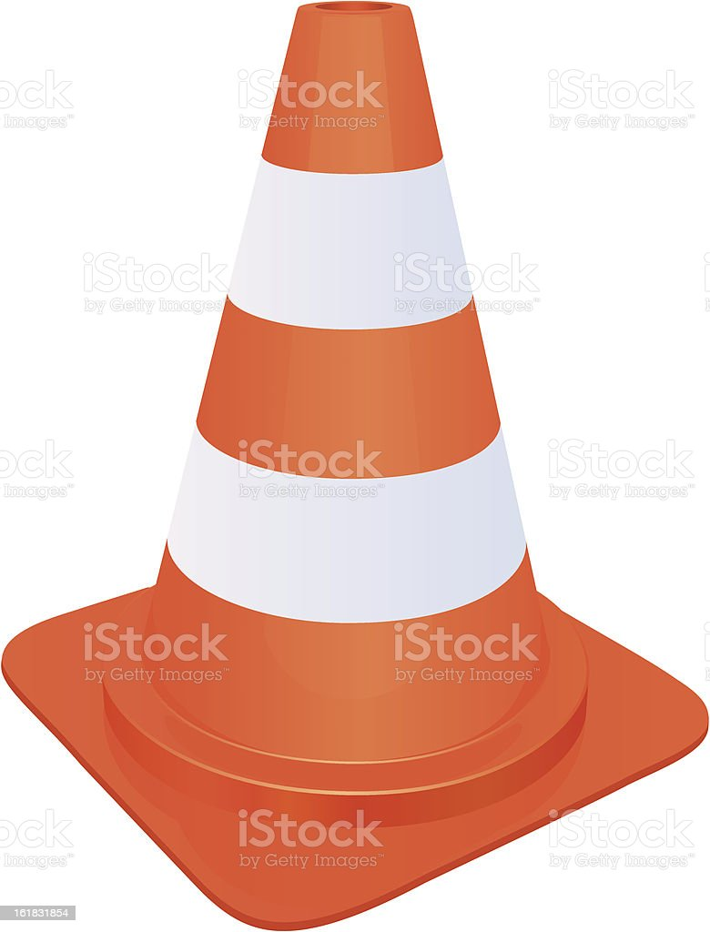 Traffic cone royalty-free stock vector art