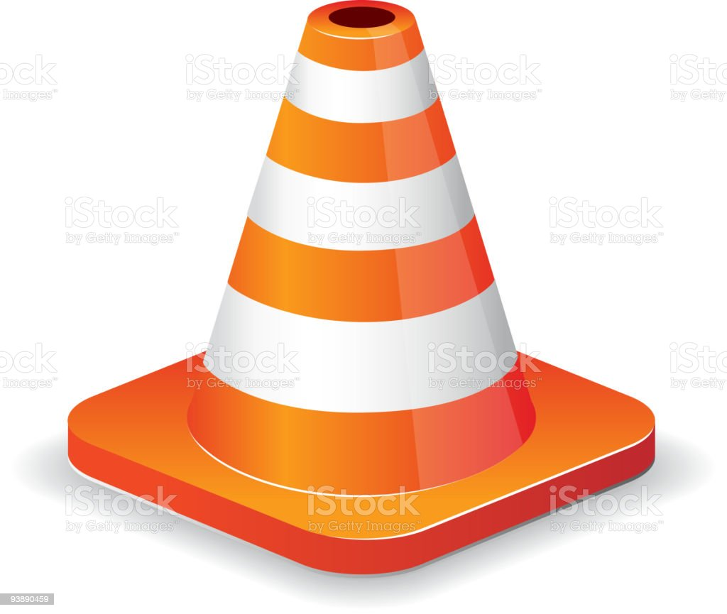 Traffic cone royalty-free traffic cone stock vector art & more images of color image