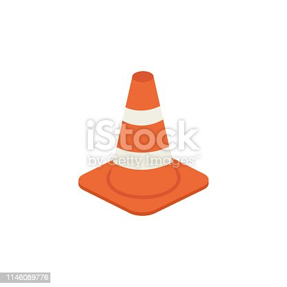 istock Traffic cone vector isometric illustration 1146089776