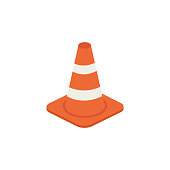 istock Traffic cone vector isometric illustration 1146089776