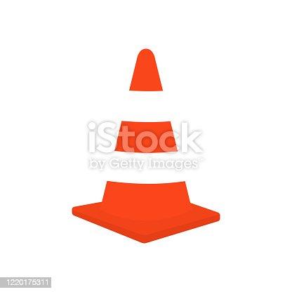 istock Traffic cone vector stock illustration 1220175311
