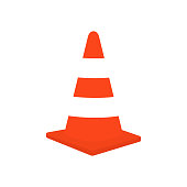 istock Traffic cone vector stock illustration 1220175311