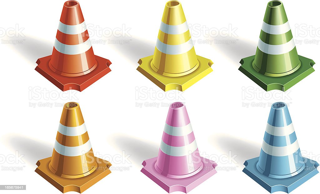 Traffic Cones Collection royalty-free stock vector art