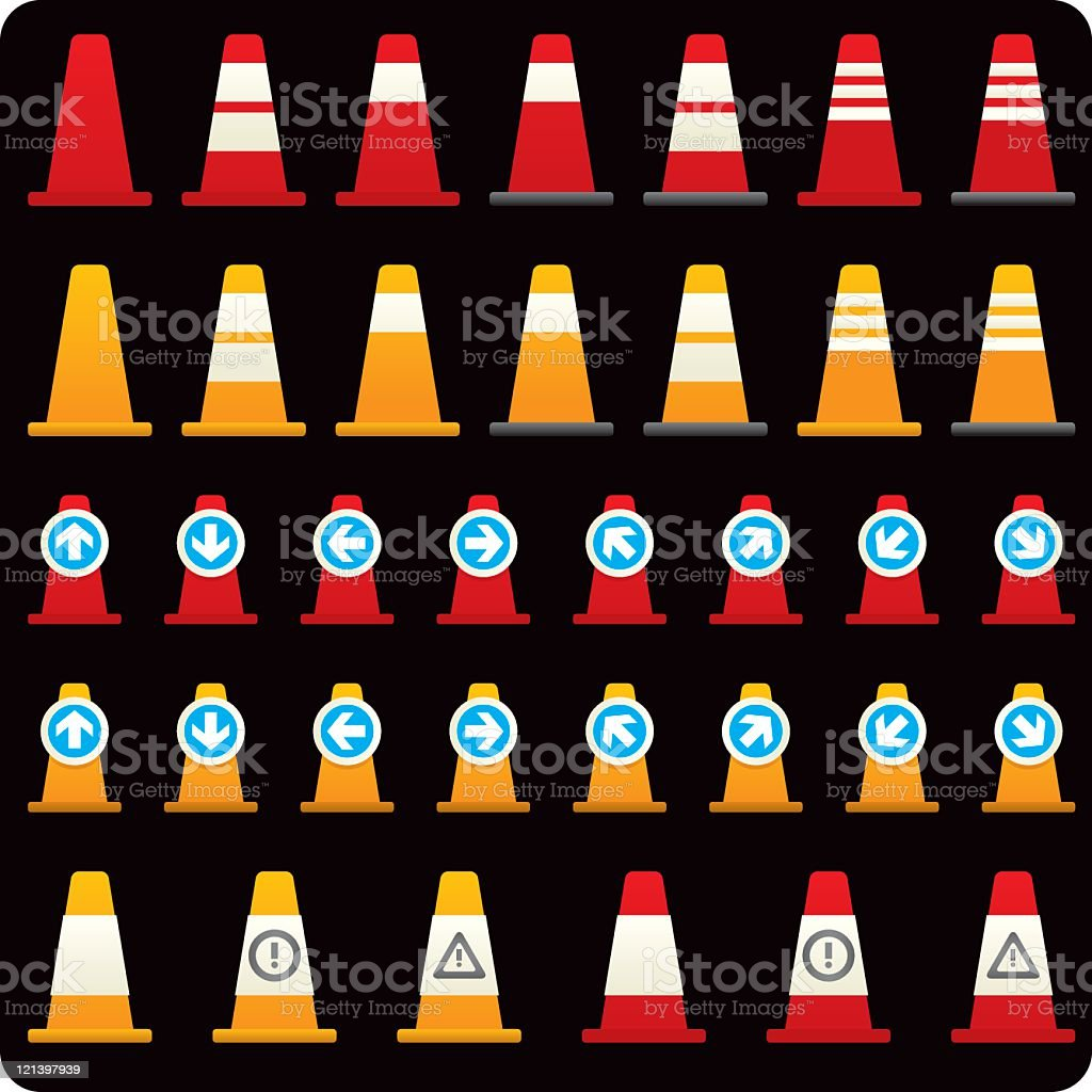 Traffic control icon royalty-free stock vector art