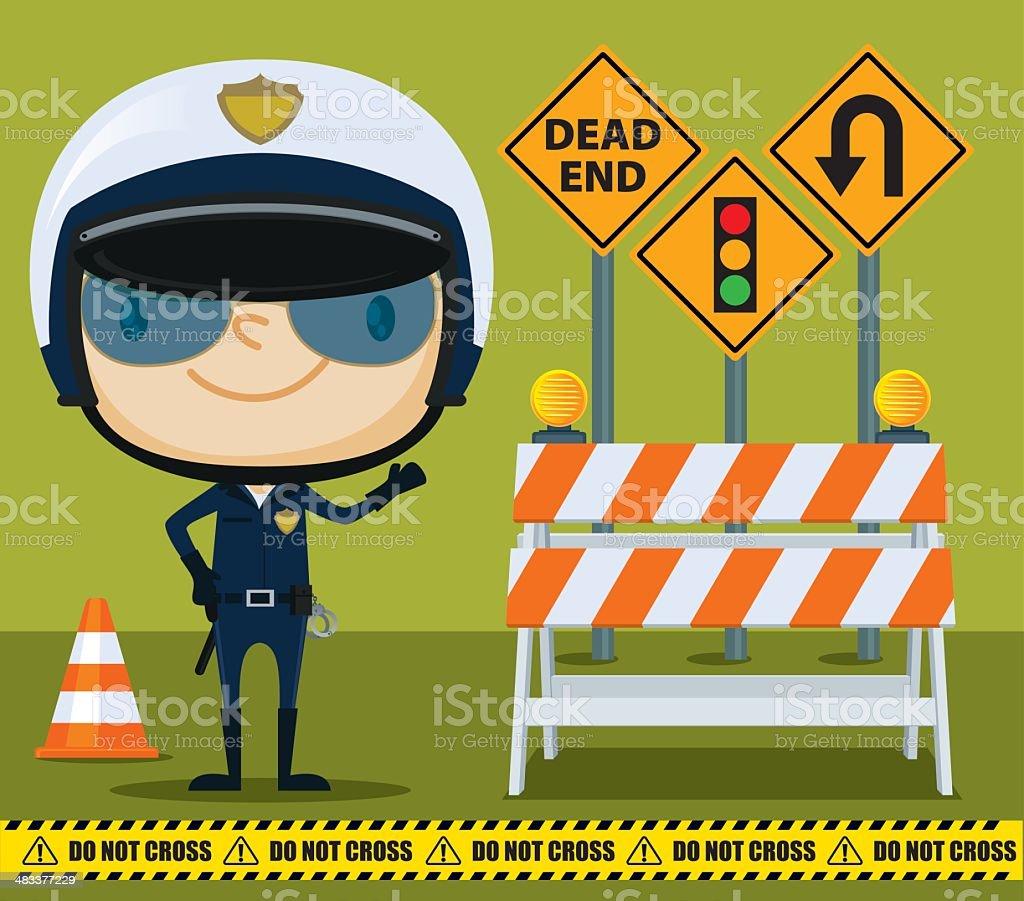 Traffic Cop vector art illustration