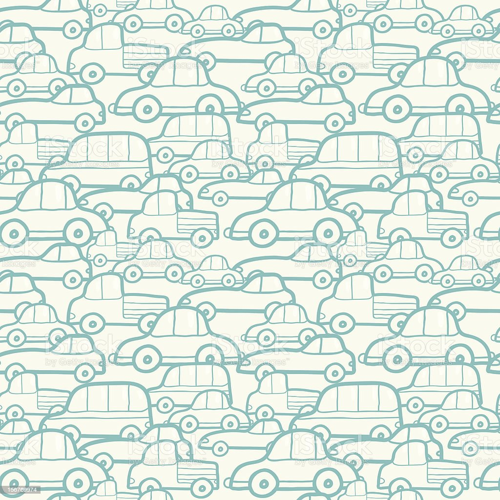 Traffic doodle seamless pattern royalty-free stock vector art