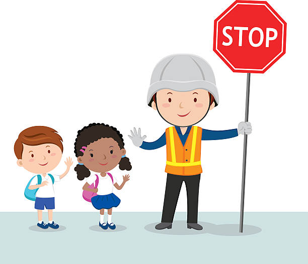 Best Crossing Guard Illustrations, Royalty-Free Vector