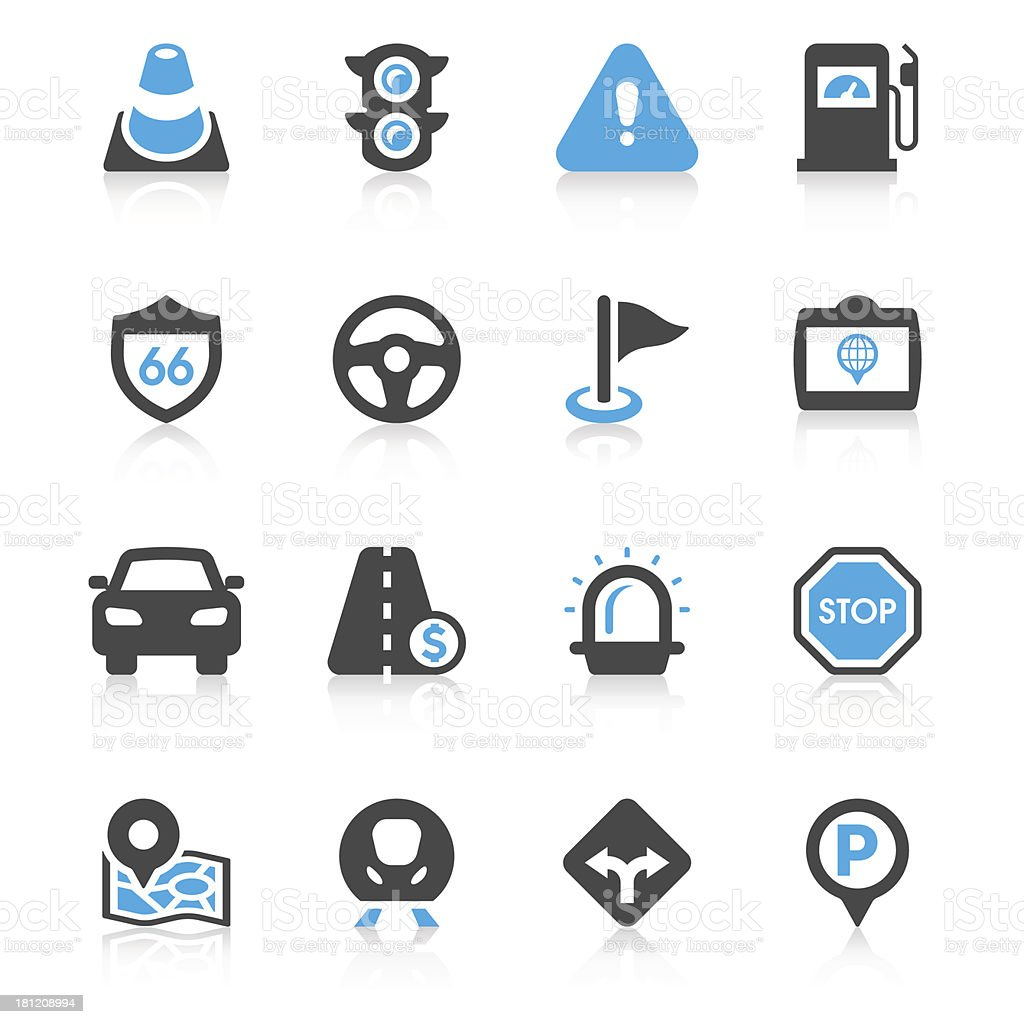 Traffic Icon Set | Concise Series royalty-free traffic icon set concise series stock vector art & more images of aiming