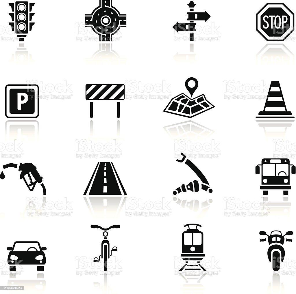 Traffic Icon Set vector art illustration
