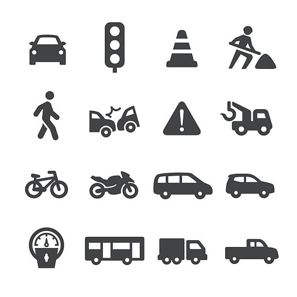 traffic icons - acme series - hauptverkehrszeit stock-grafiken, -clipart, -cartoons und -symbole