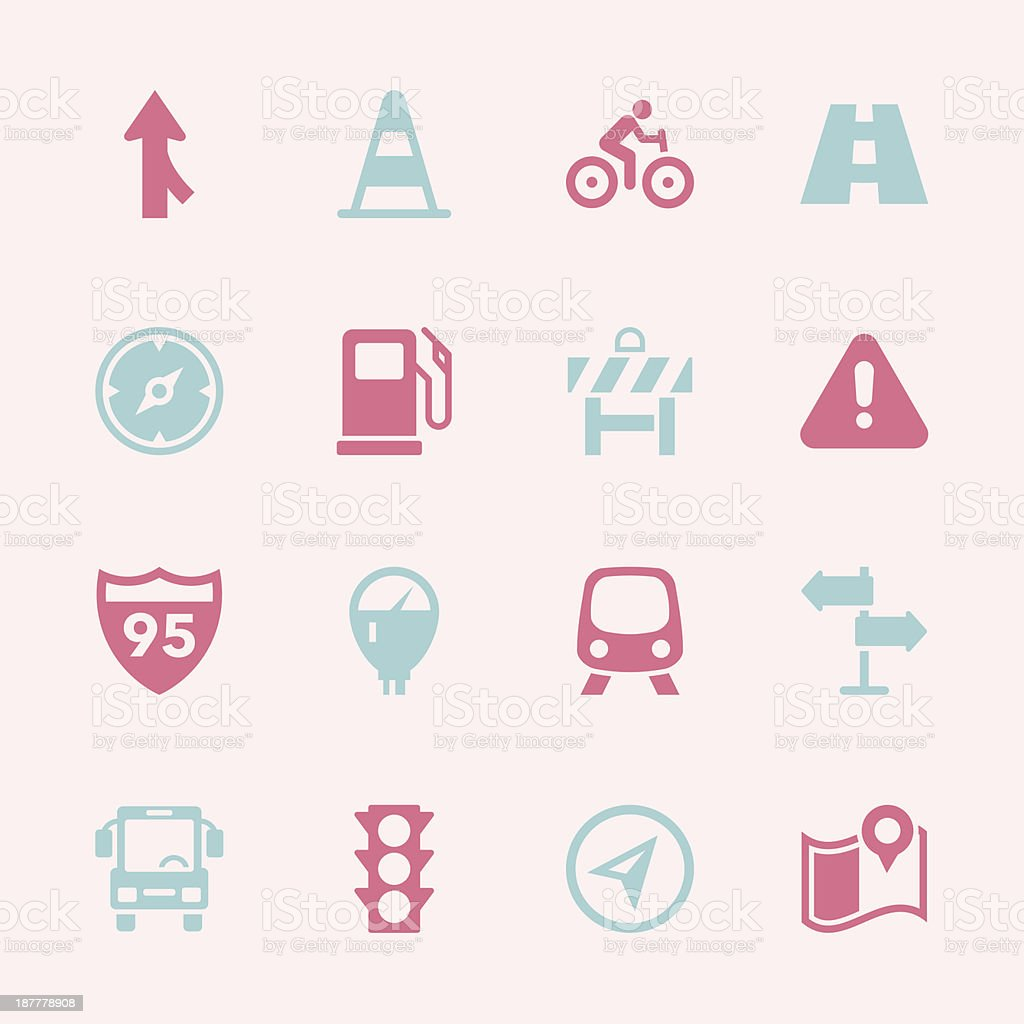 Traffic Icons - Color Series | EPS10 royalty-free stock vector art