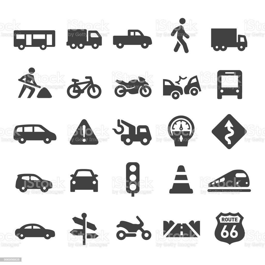 Traffic Icons - Smart Series Traffic, transportation, Adult stock vector
