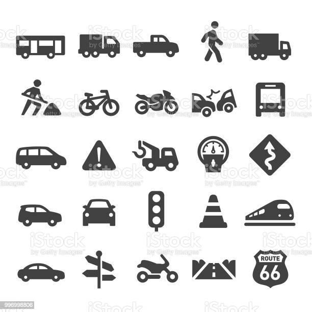 Verkeer Icons Slimme Serie Stockvectorkunst en meer beelden van 'Don't Walk'-bord