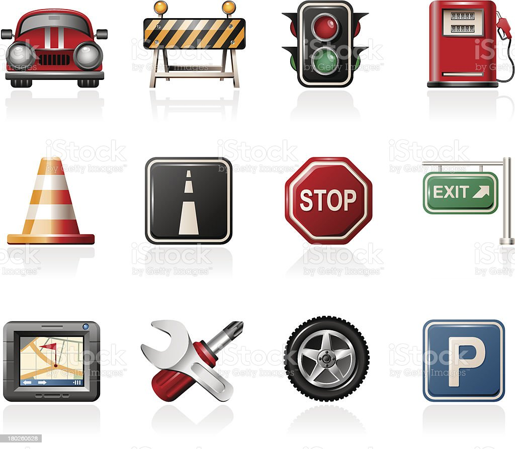 Traffic Icons royalty-free stock vector art